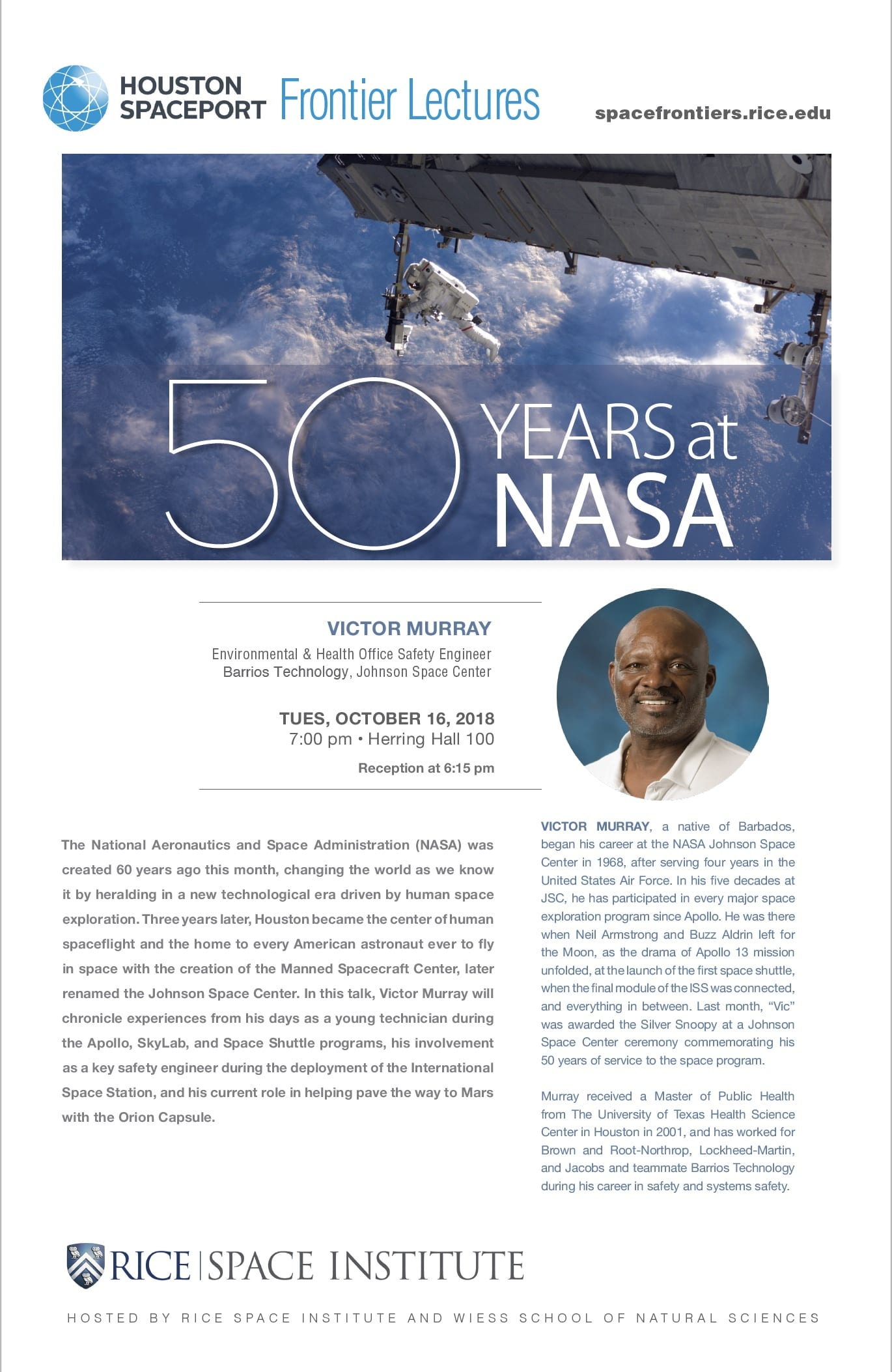 Poster of 50 Years at NASA by Victor Murray